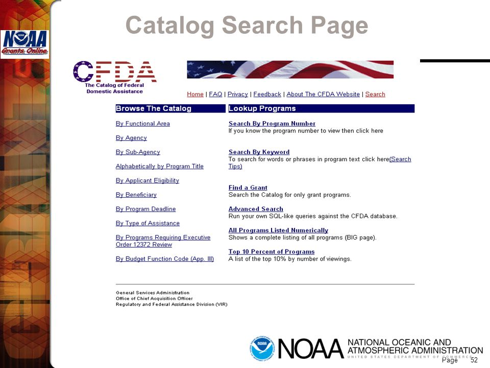 Page 52 Catalog Search Page