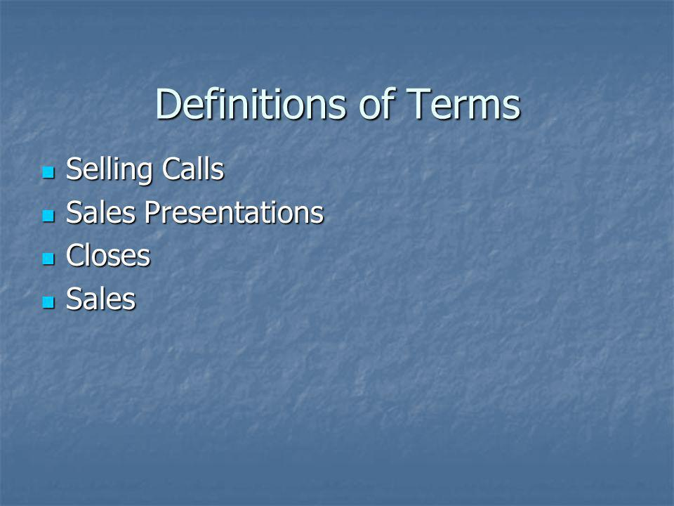 Selling Calls Face to face introduction Face to face introduction Attempt to secure an appointment for a Sales Presentation Attempt to secure an appointment for a Sales Presentation