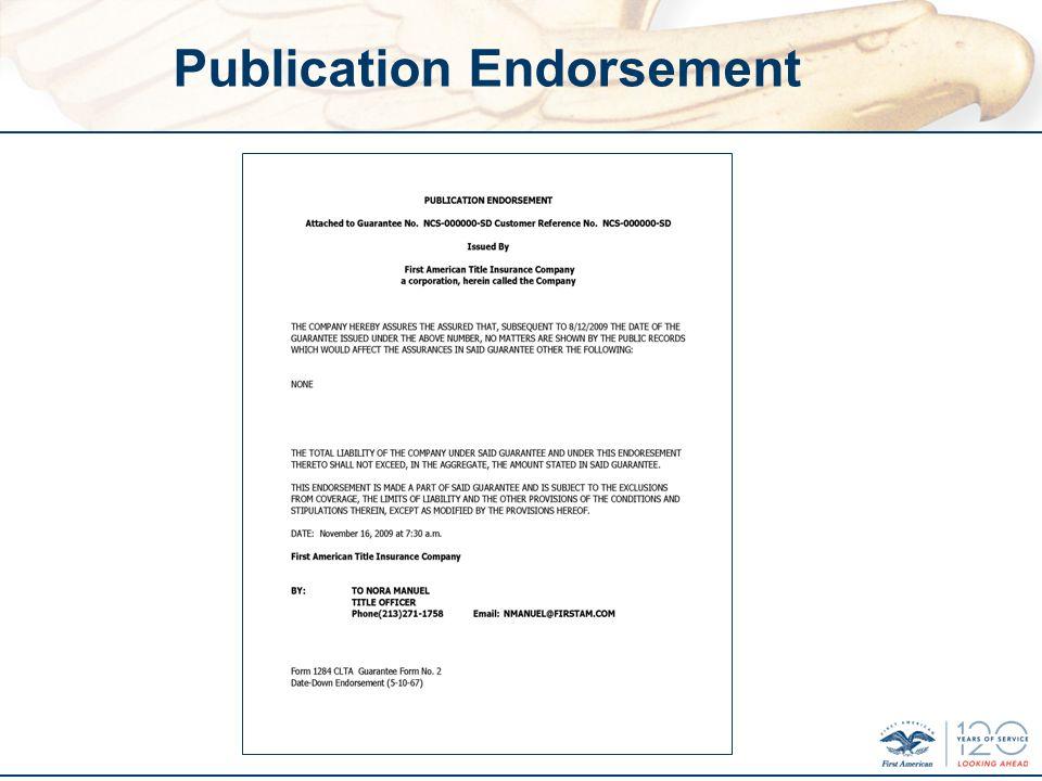 Publication Endorsement
