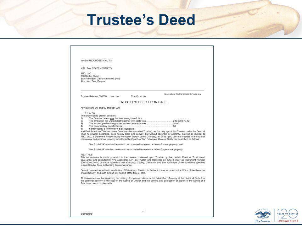 Trustees Deed