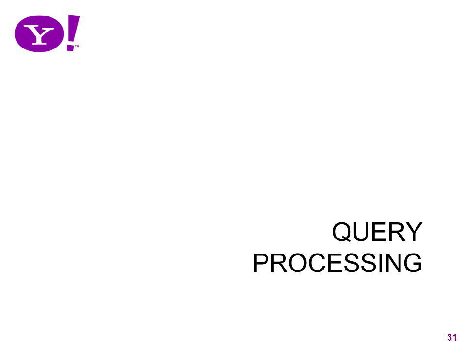 31 QUERY PROCESSING 31