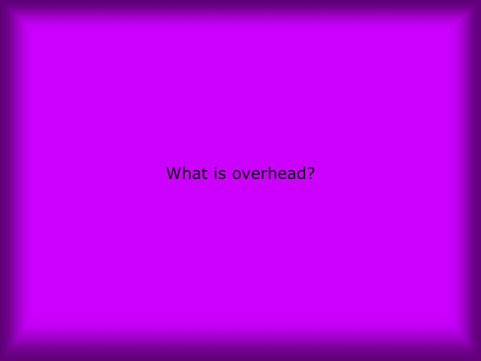 What is overhead