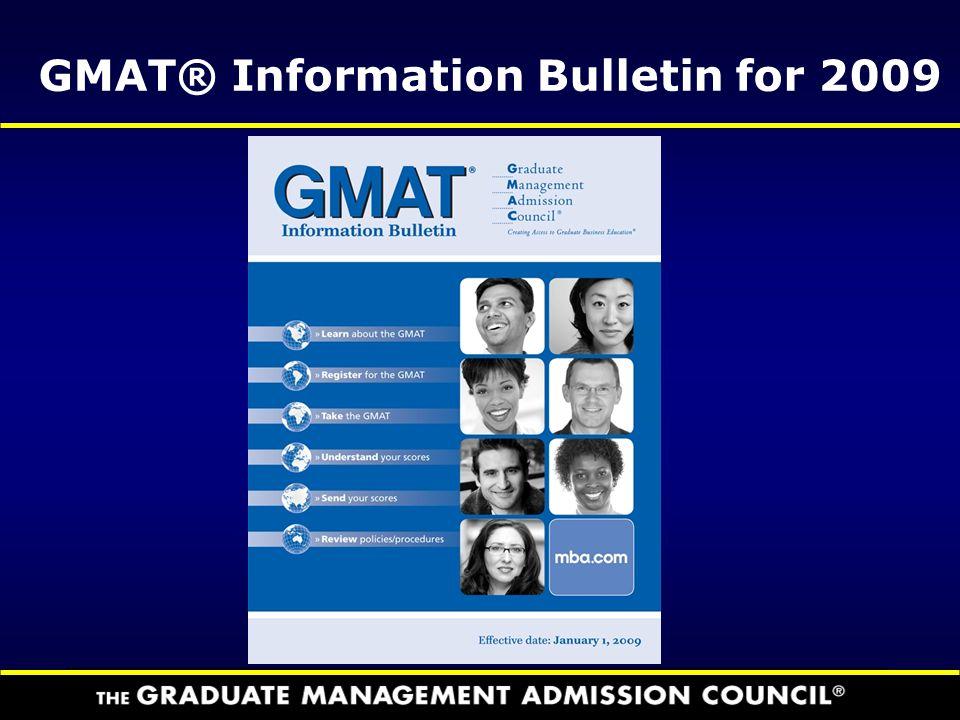 GMAT® Information Bulletin for 2009