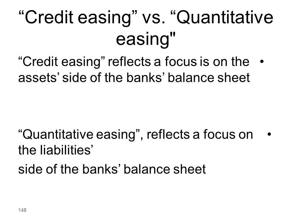 Credit easing vs. Quantitative