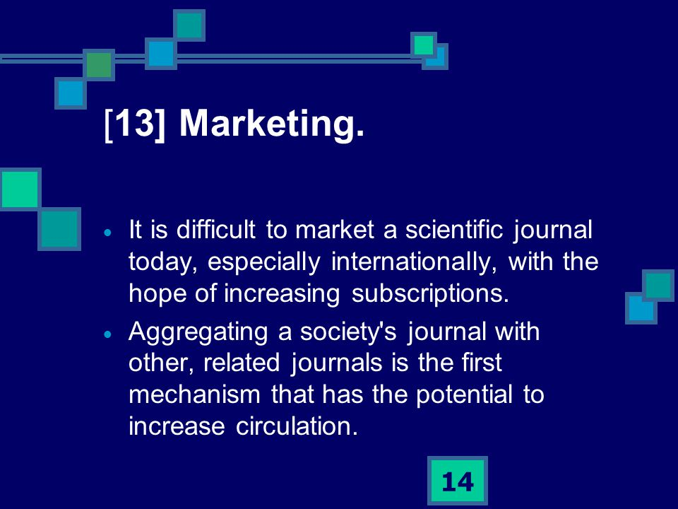 14 [13] Marketing.
