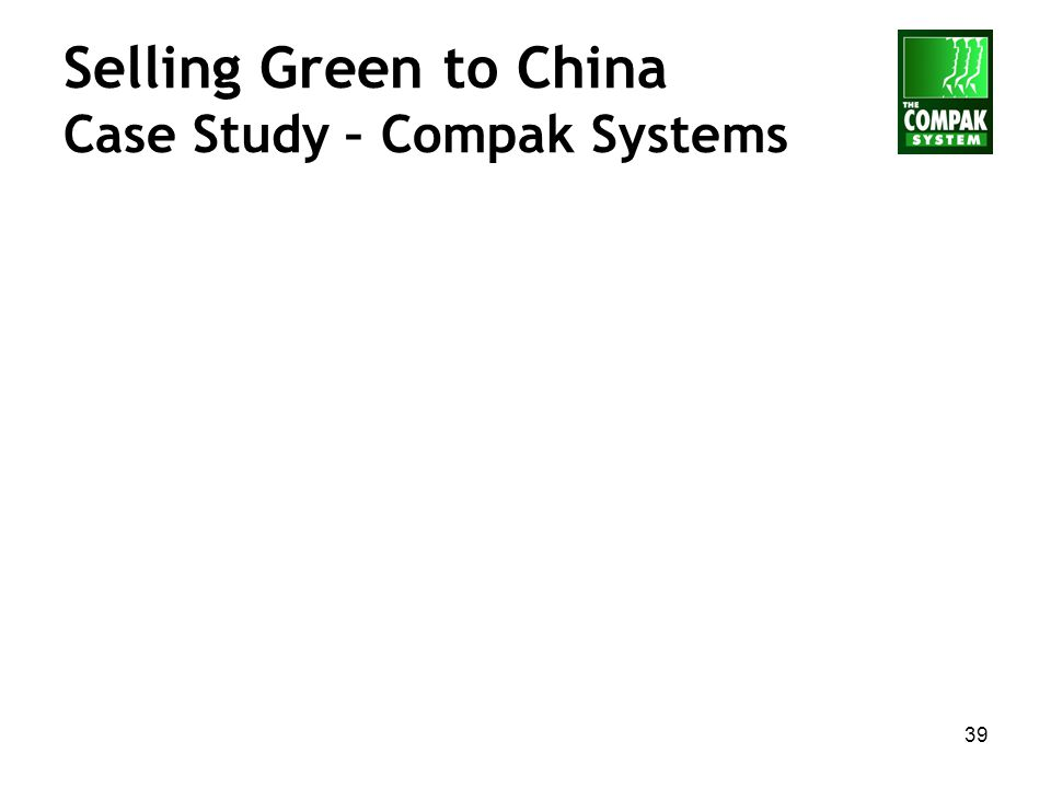 39 Selling Green to China Case Study – Compak Systems