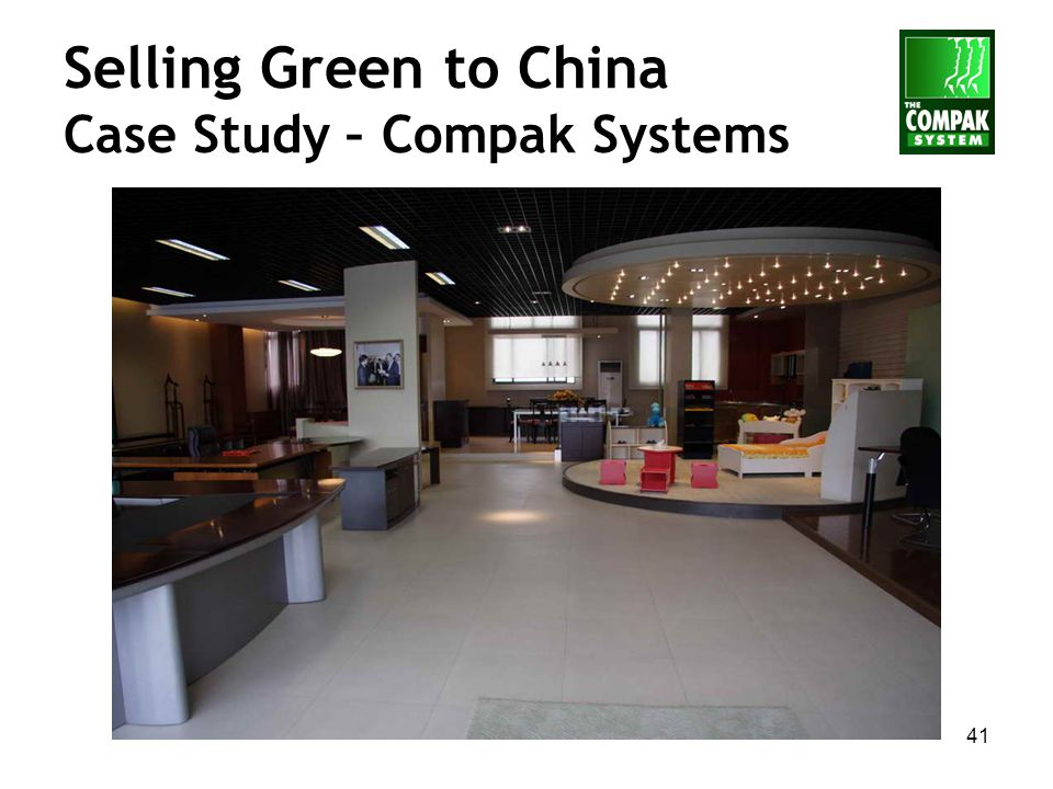 41 Selling Green to China Case Study – Compak Systems