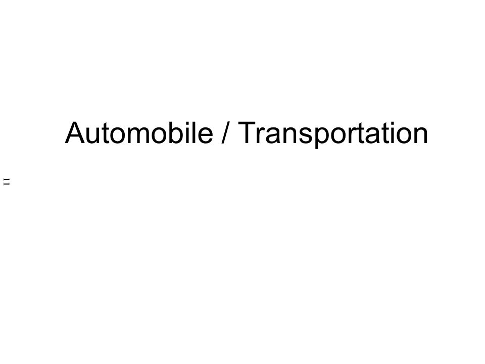 Automobile / Transportation 11