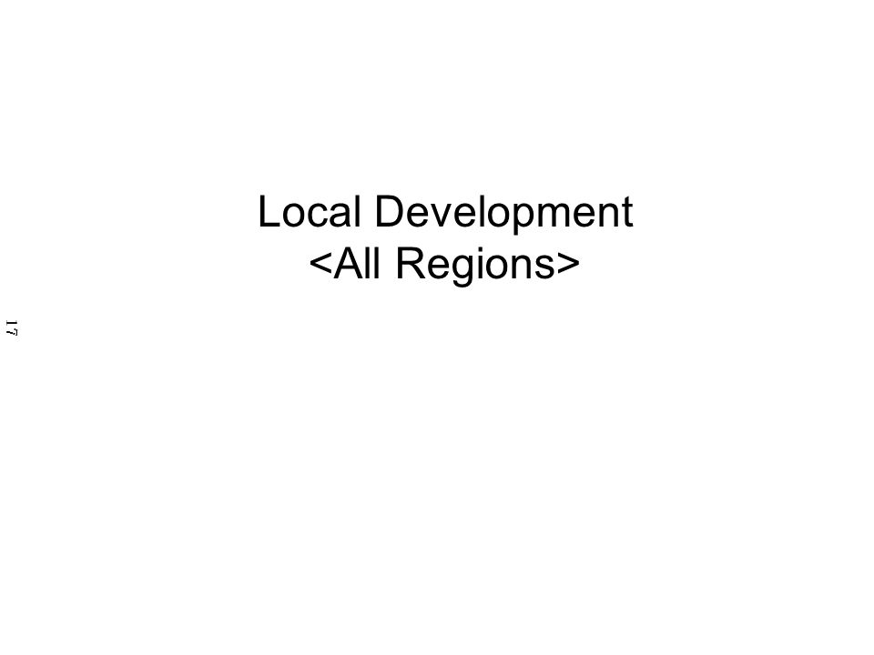 Local Development 17
