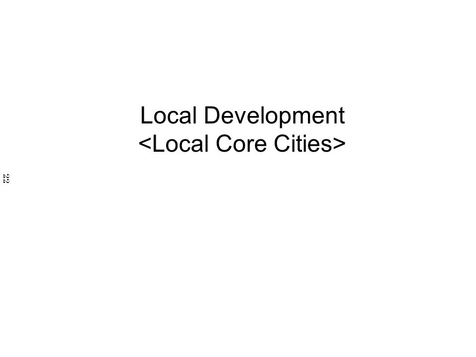 Local Development 22