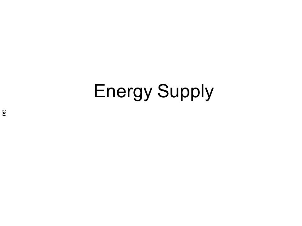 Energy Supply 30