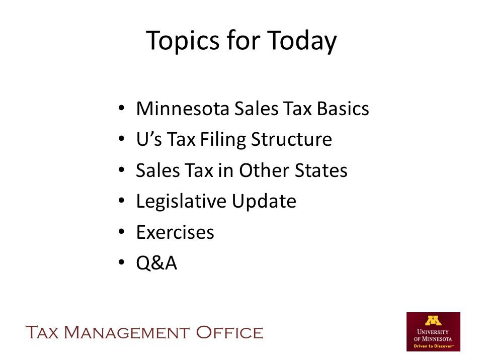 Exercise 1B Answers Testing services are not taxable in Minnesota.