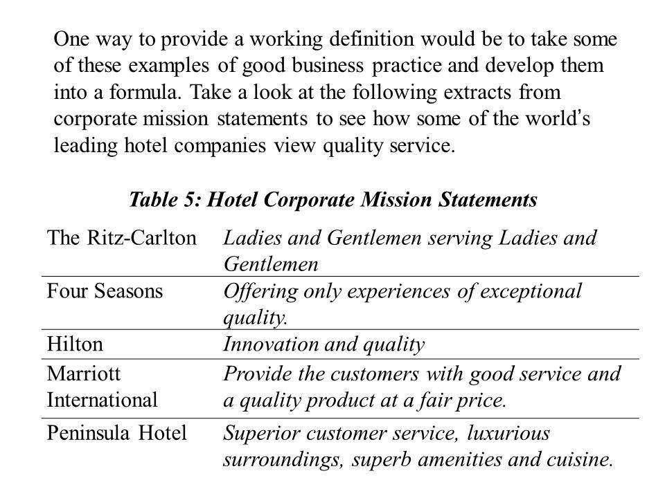 One way to provide a working definition would be to take some of these examples of good business practice and develop them into a formula.
