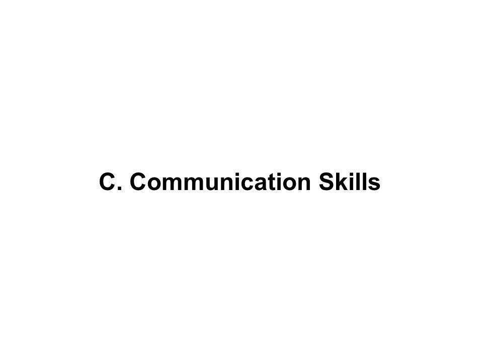 C. Communication Skills