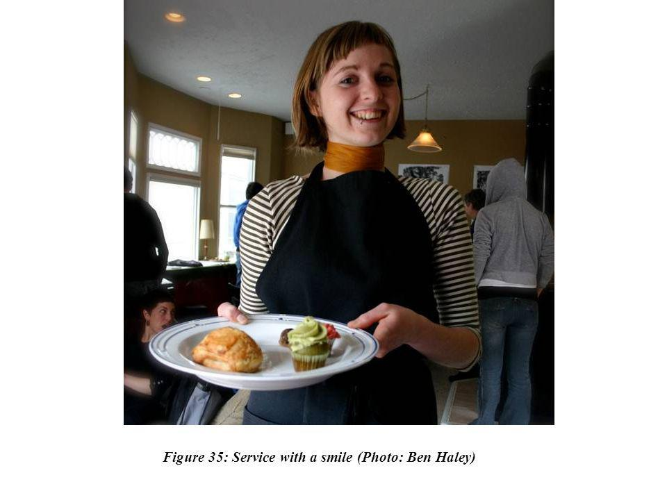 Figure 35: Service with a smile (Photo: Ben Haley)