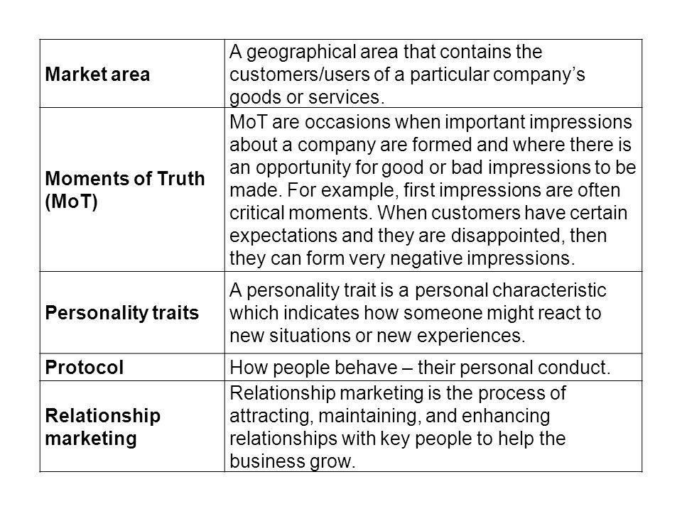 Market area A geographical area that contains the customers/users of a particular companys goods or services.