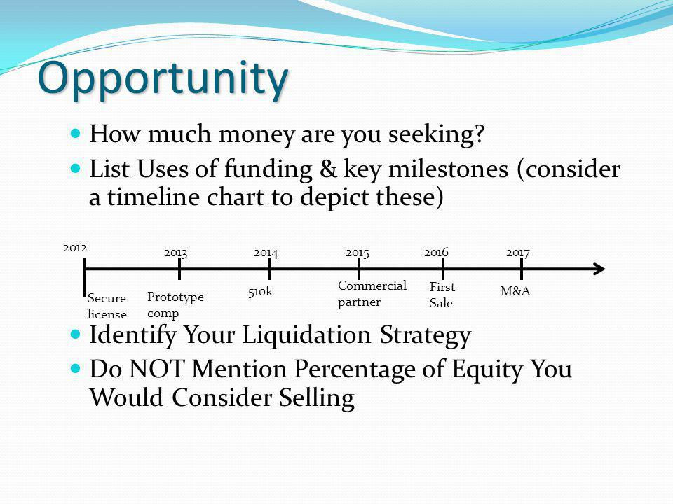 Opportunity How much money are you seeking.