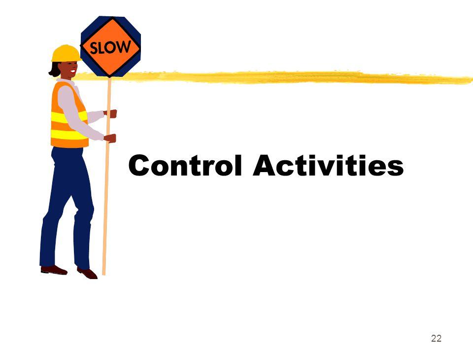 22 Control Activities
