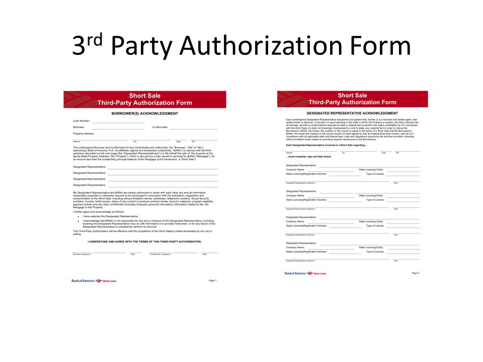 3 rd Party Authorization Form