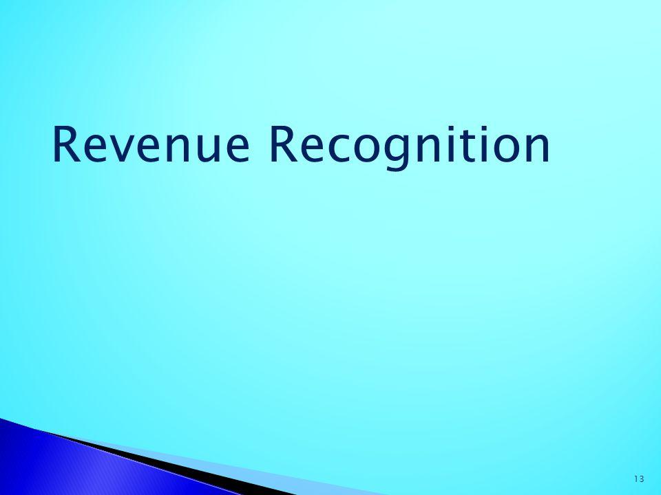 13 Revenue Recognition