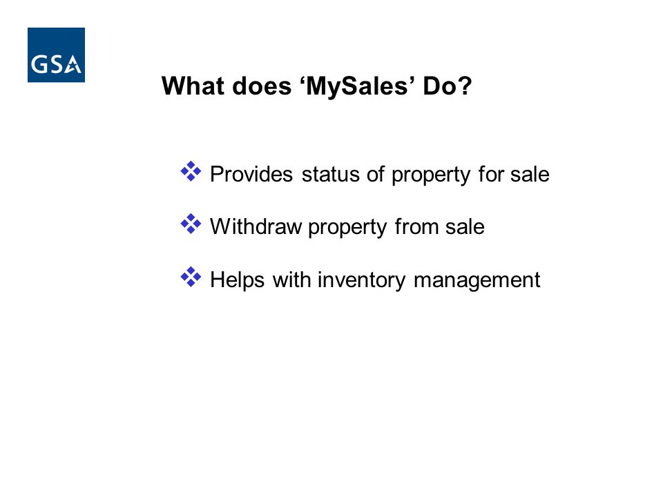 What does MySales Do.