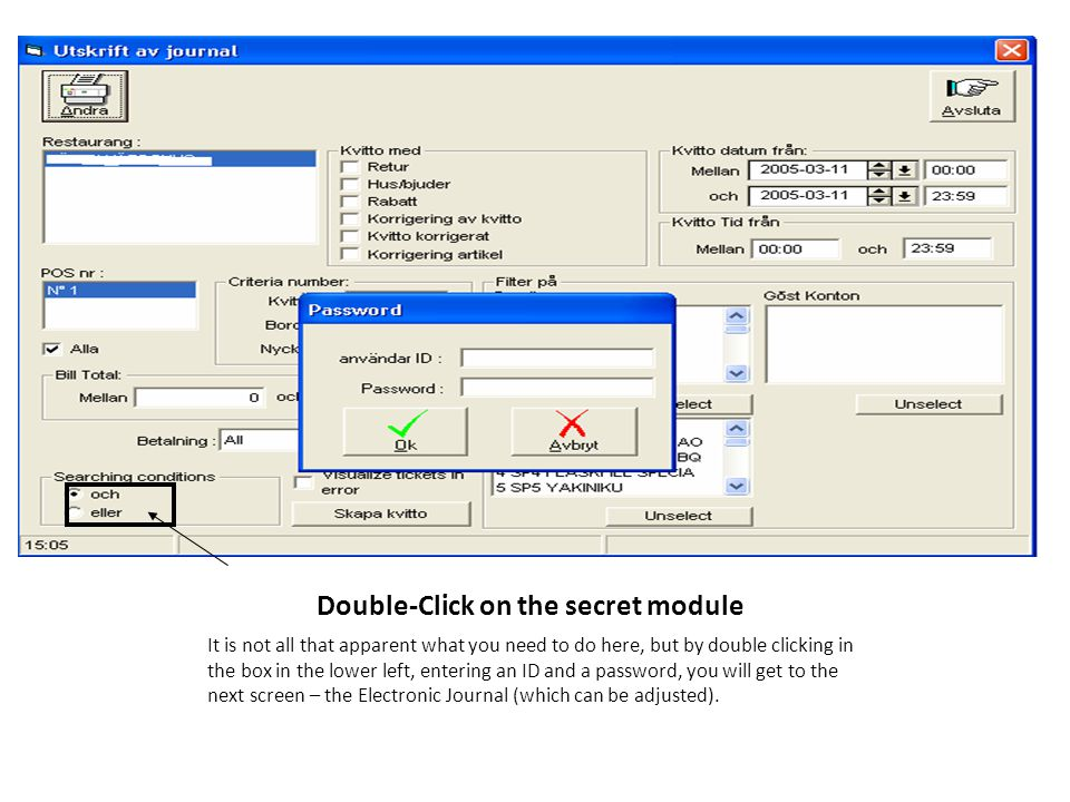 Double-Click on the secret module It is not all that apparent what you need to do here, but by double clicking in the box in the lower left, entering