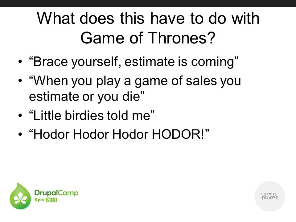 What does this have to do with Game of Thrones.