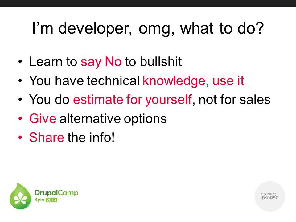 Im developer, omg, what to do.