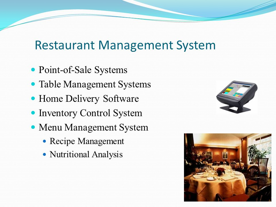 Menu Management Chef Tech Software Recipe/Menu Costing Inventory Control Nutritional Analysis Create orders from pars POS & Purchasing Interface