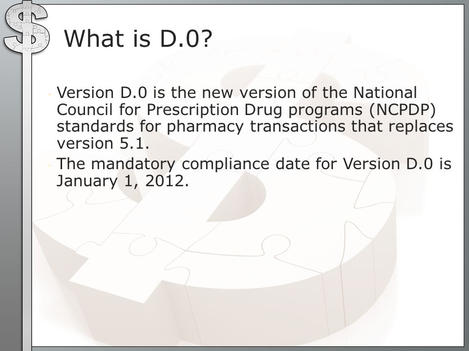 NCPDP version D.0 No more formats to link to insurers Advance Insurer setup option allows edits by user Quick and Advance Insurer setup creates a default layout based on insurer type New security key for ADV option SUMI report sorts by 5.1 and D.0 version Highlights of Patch 42