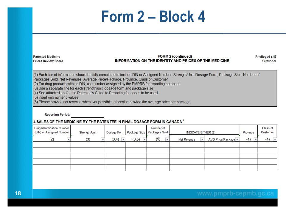 Form 2 – Block 4 18