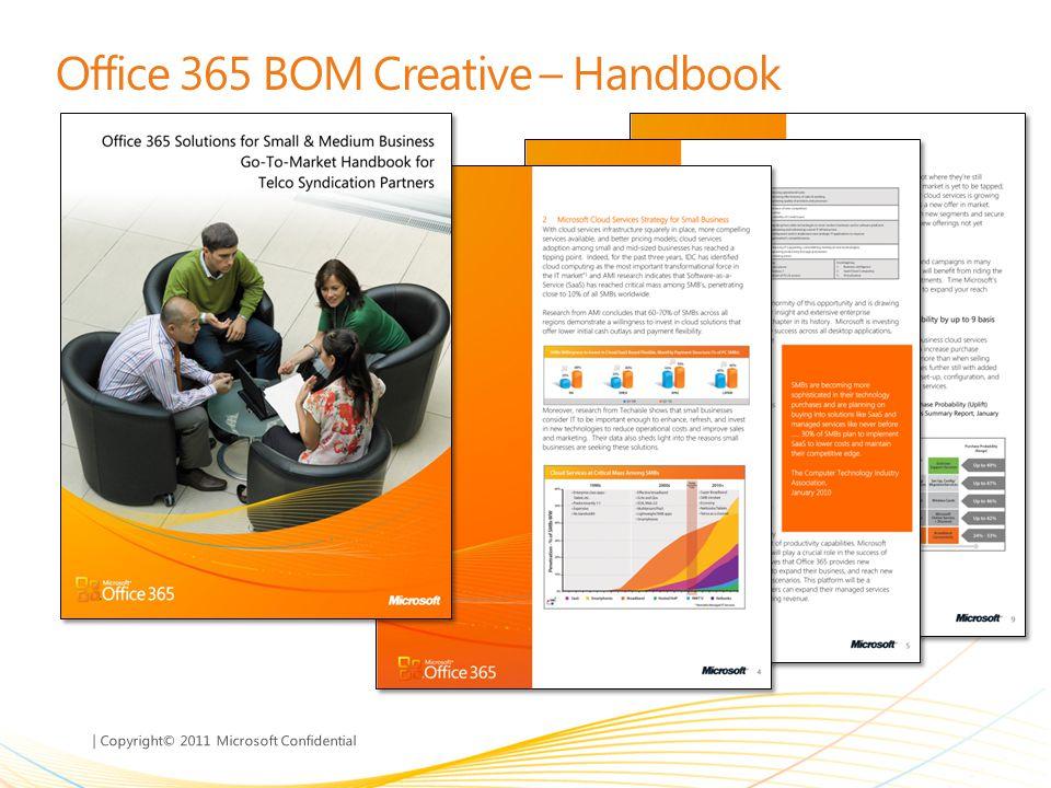 | Copyright© 2011 Microsoft Confidential Office 365 BOM Creative – Handbook