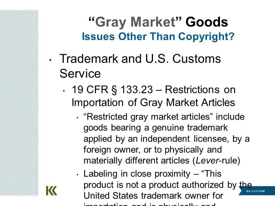 Trademark and U.S.