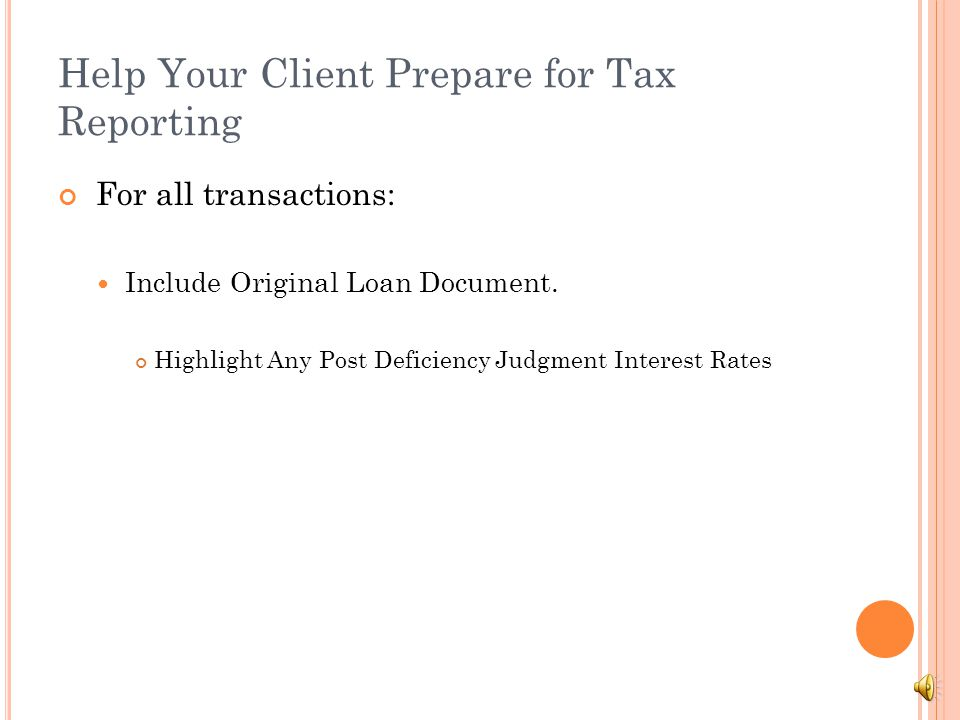 Help Your Client Prepare for Tax Reporting