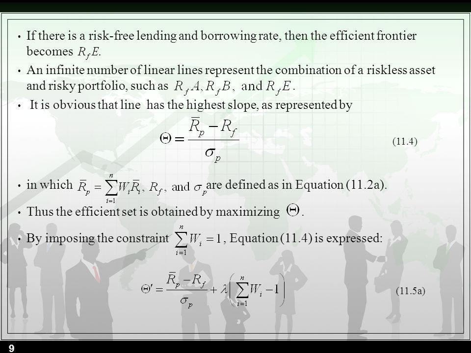 To calculate the as defined in Equation (11.16).are calculated and presented in the worksheet.