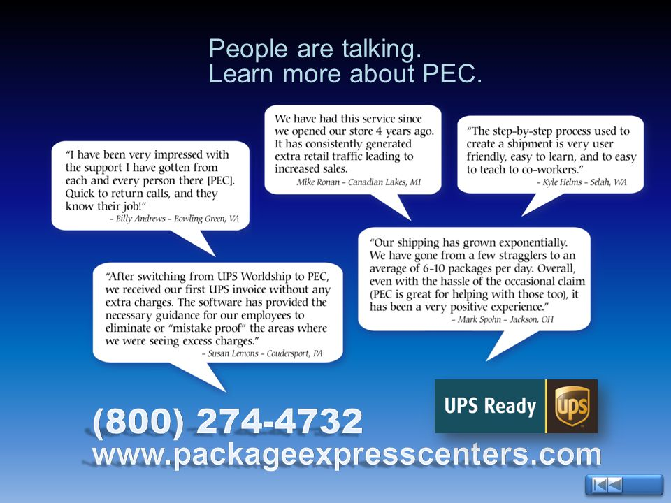 People are talking. Learn more about PEC.