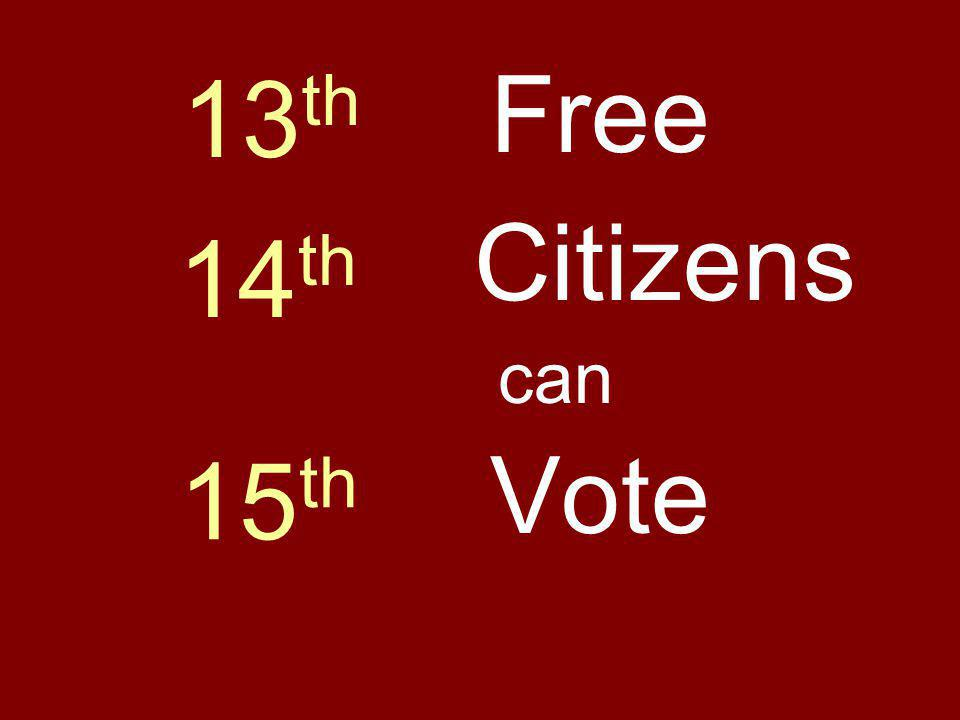 Citizens Vote Free can 14 th 15 th 13 th