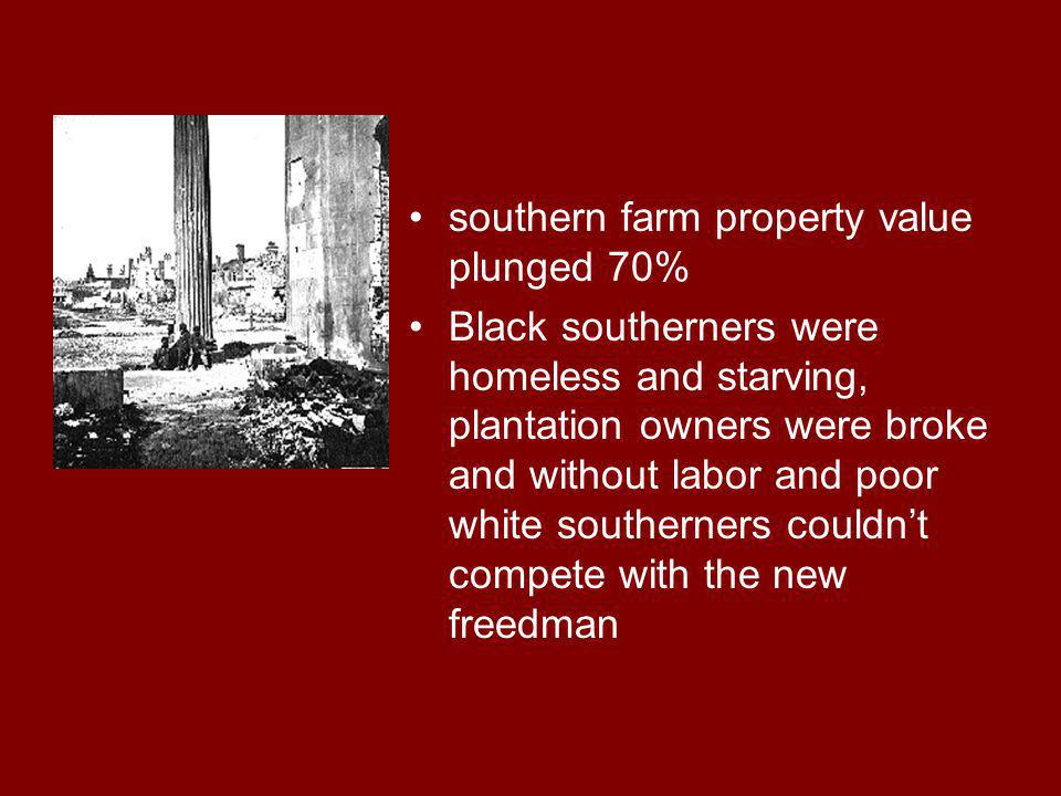 Black Codes 1) Allowed former slaves to: Marry fellow blacks Own personal property Sue and be sued