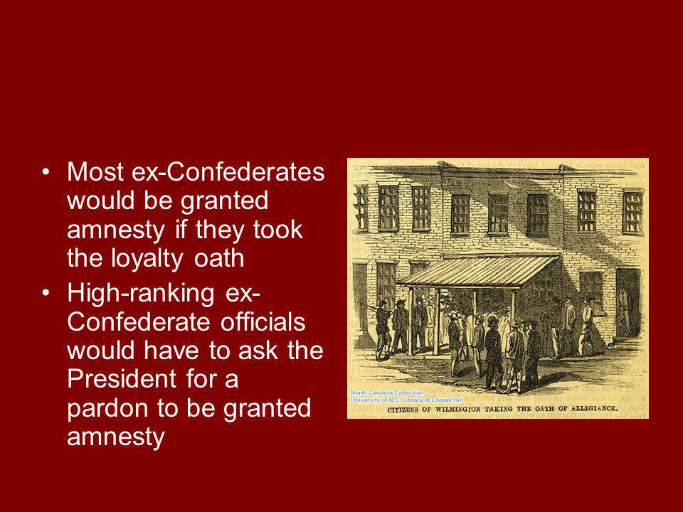 The new state constitutions had to ban slavery States had to provide free public education to blacks