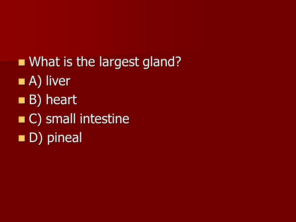 What is the largest gland.What is the largest gland.