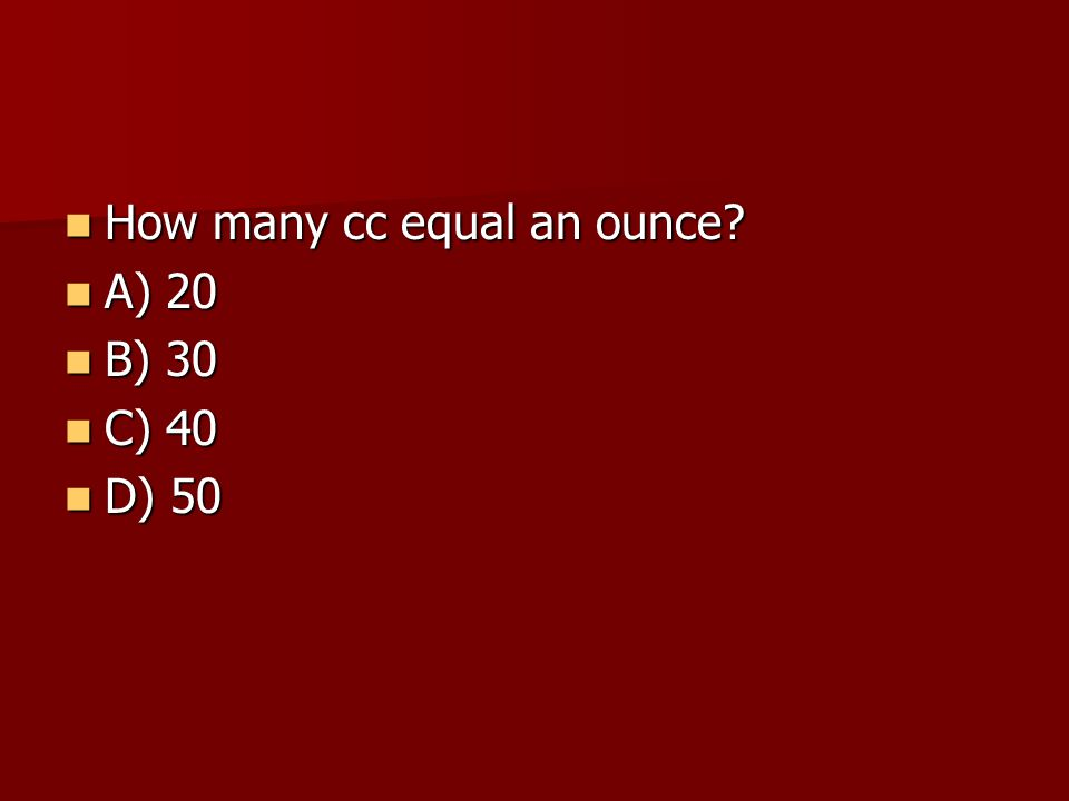 How many cc equal an ounce.How many cc equal an ounce.