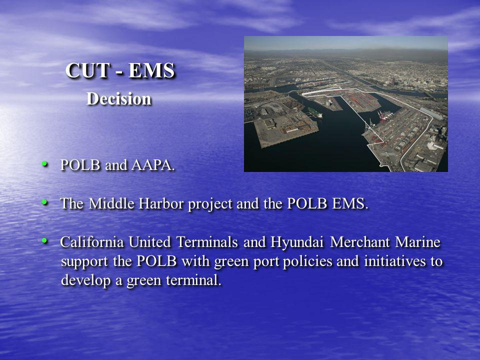 Storm Water Pollution Prevention Go hand-in-hand with POLB Improvements required Storm Water Pollution Prevention Go hand-in-hand with POLB Improvements required Fence Line CUT - EMS Global Environment & Technology Foundation