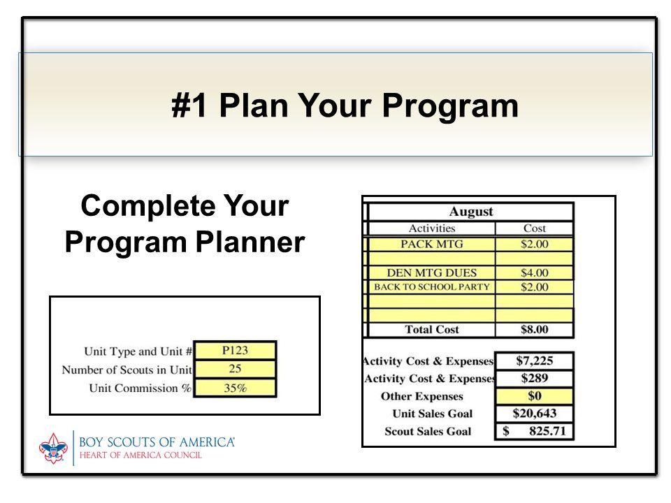 Complete Your Program Planner #1 Plan Your Program
