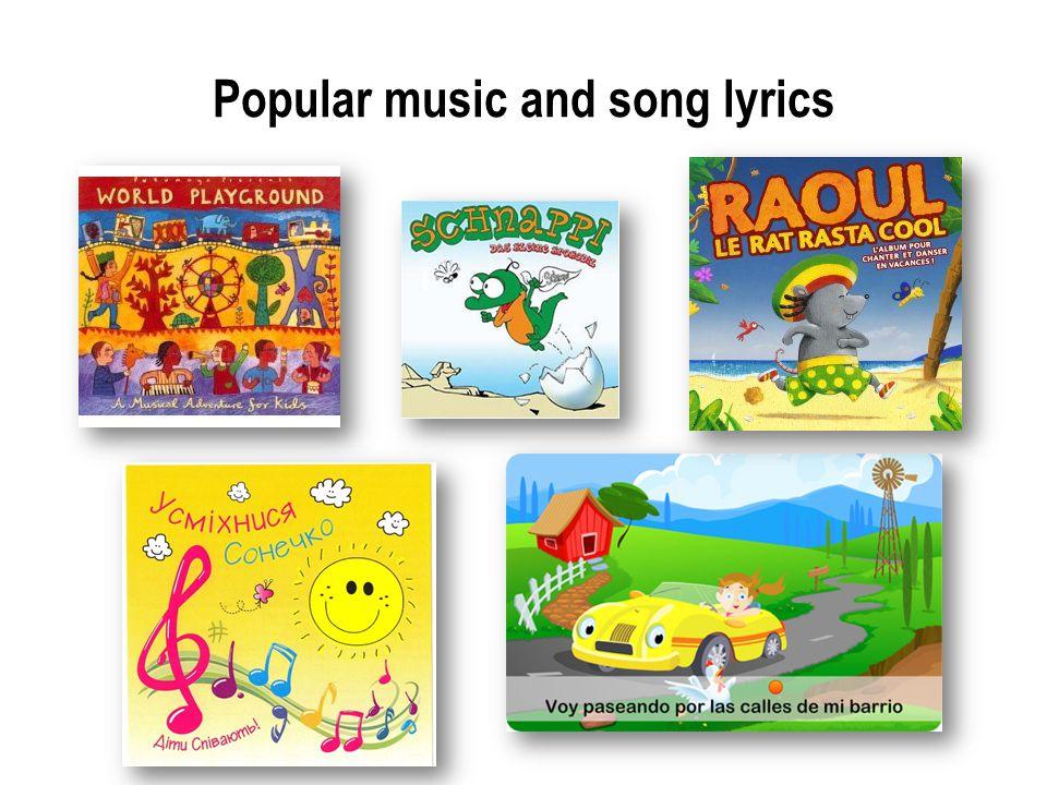 Popular music and song lyrics