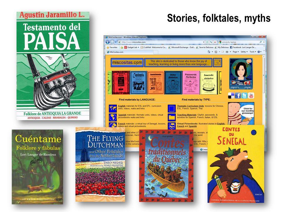 Stories, folktales, myths
