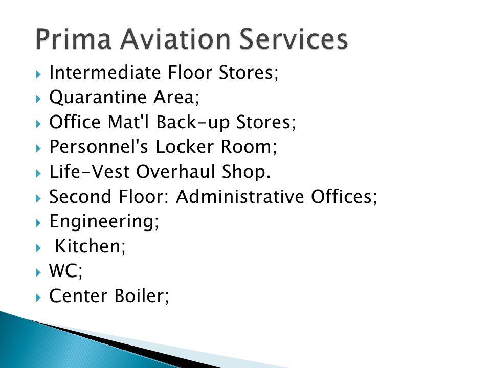 Intermediate Floor Stores; Quarantine Area; Office Mat l Back-up Stores; Personnel s Locker Room; Life-Vest Overhaul Shop.