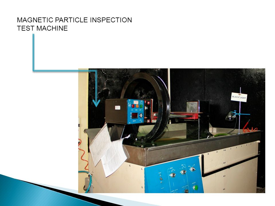 MAGNETIC PARTICLE INSPECTION TEST MACHINE