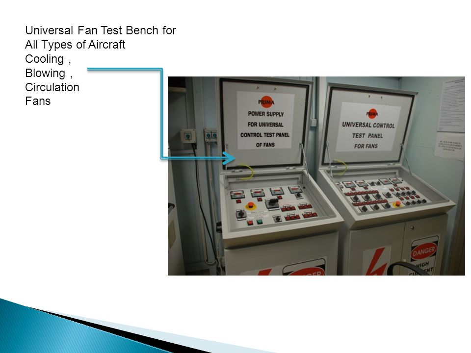 Universal Fan Test Bench for All Types of Aircraft Cooling, Blowing, Circulation Fans