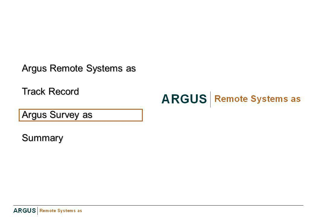 Argus Remote Systems as Track Record Argus Survey as Summary