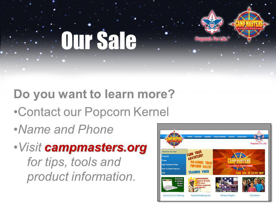 Our Sale Do you want to learn more.